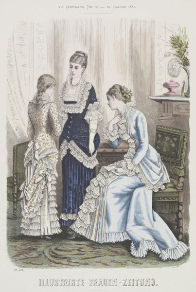 1880 Jan blue dressing gown