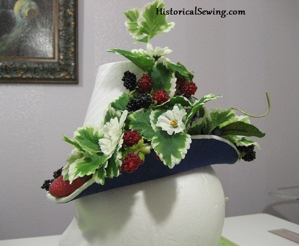 1880s Berry Hat fully decorated