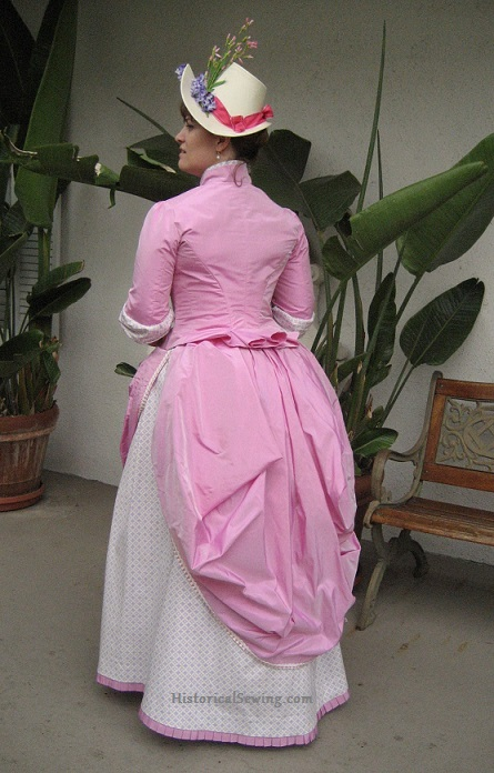 1886 Pink Bubble Gum Dress back