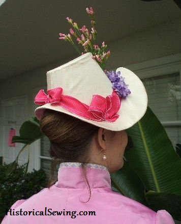 1886 Hat side-back view
