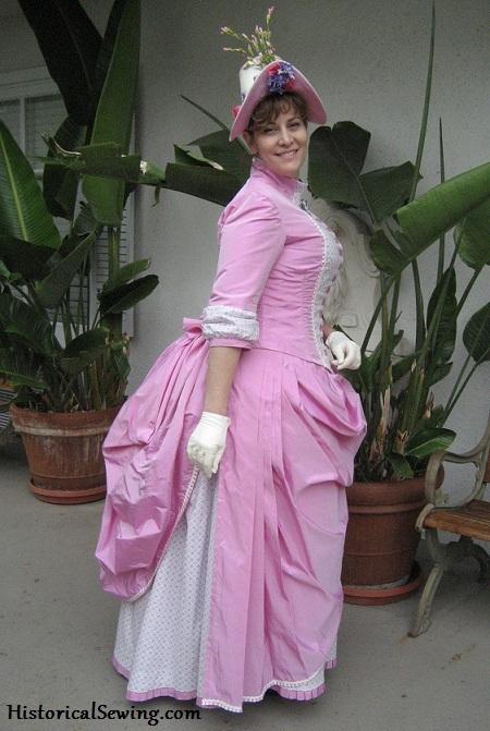 Jennifer's 1886 Pink Bubble Gum Diamonds Dress