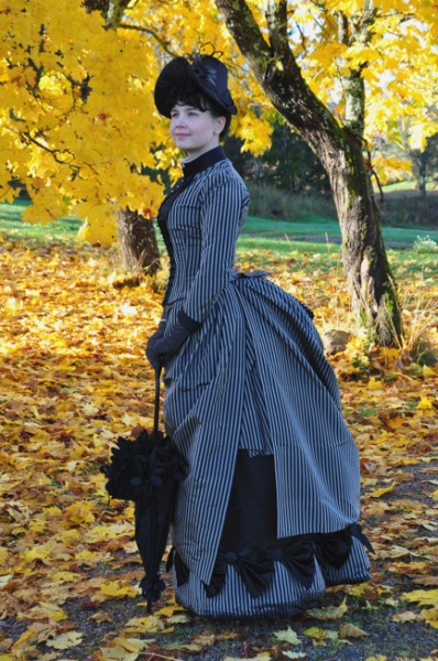 1887 Black Stripe Dress by Merja - The Aristocat