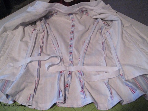1887 Bodice inside with tape