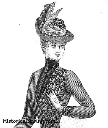 1887 Delineator brocade