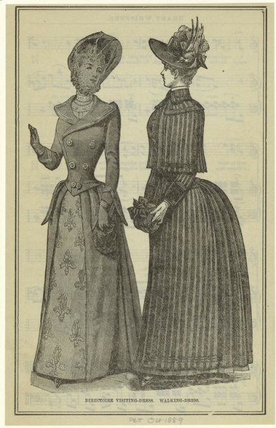 1889 Oct Peterson's Directoire visiting-dress & Walking-dress
