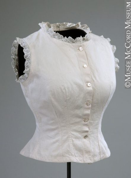 1890-1900 corset cover McCord Museum
