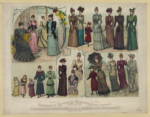 1891 Autumn Butterick Metropolitan Fashions