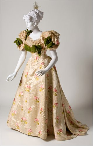 1895 Ballgown by House of Worth Paris, the Bruce Museum