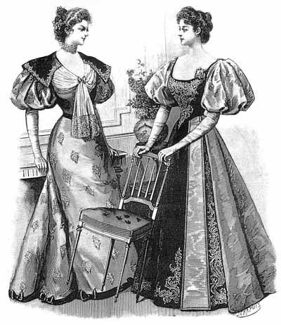 1895 Dinner Dresses Harpers Bazar