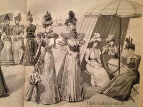 1897 La Mode at the shore