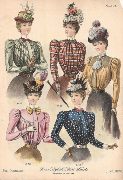 1898 June Delineator shirtwaists