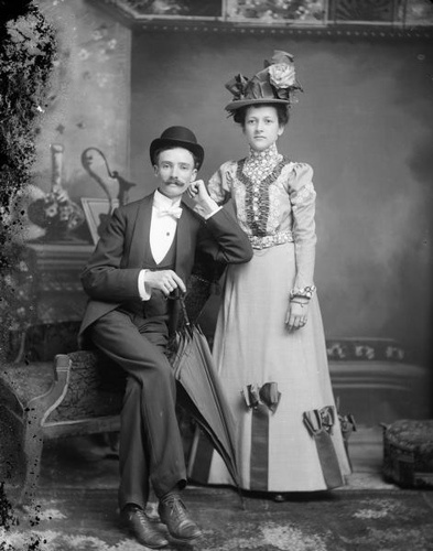 1898 - Mr. and Mrs. Olaf Olson, Wisconsin Historical Images