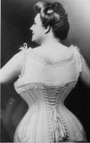 c.1900 Lady in corset