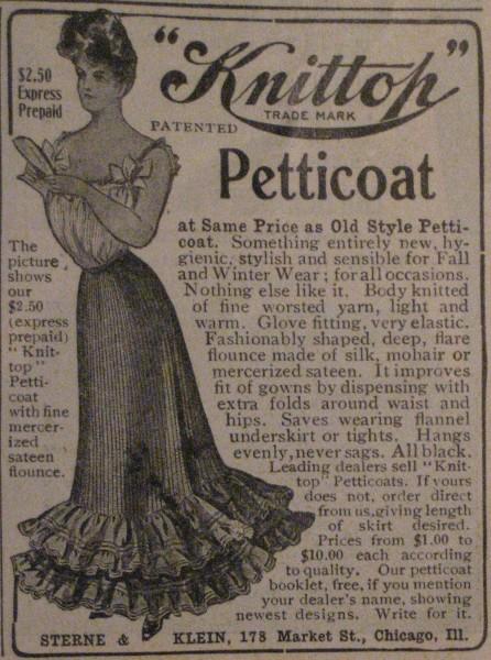 1904 Petticoat Ad