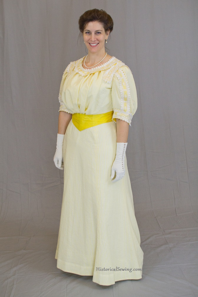 1905 Lemon Chiffon Dress | HistoricalSewing.com