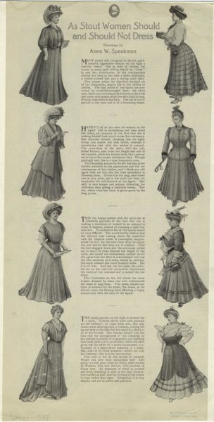 1907 Ladies Home Journal: As Stout Women Should and Should Not Dress article