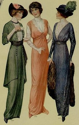 Simple dress styles from 1914