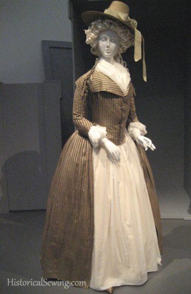 c.1790 redingote and petticoat from LACMA