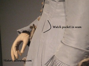 Hidden Watch Pocket in c.1880 Gown
