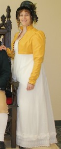 White Regency Dress & Yellow Spencer Jacket