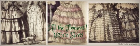 All the Flounces! 1850s Skirt Styles
