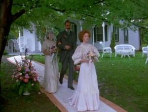 Anne White Dress at Wedding