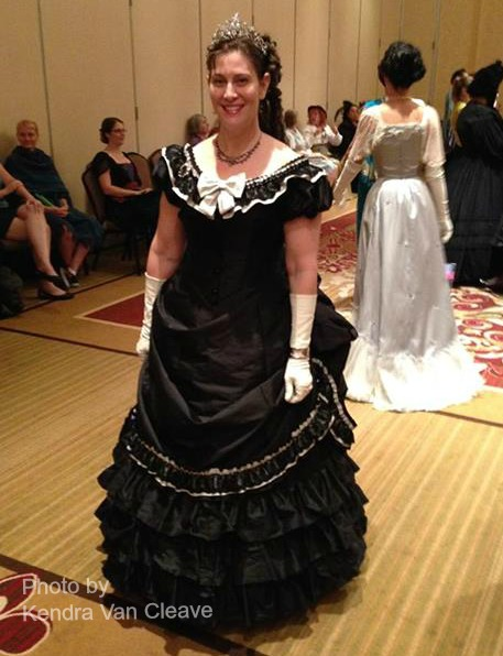 1873 Licorice Princess Evening Dress - front view