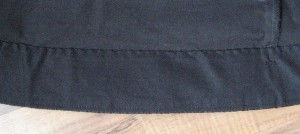 Bias Hem Facing with Horsehair Underneath for Support