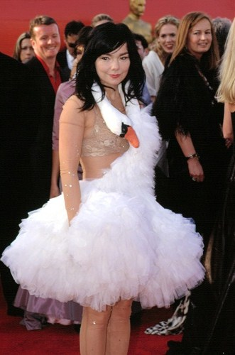 Bjork at the 75th Oscar Awards