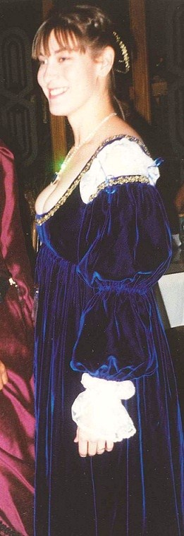 Blue Velvet Italian Renaissance Dress
