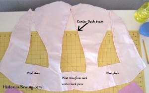 Bodice Seams & Pleat Sections