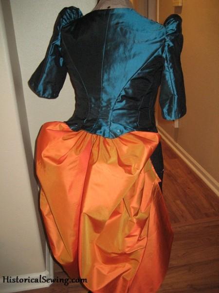Bodice & overskirt back