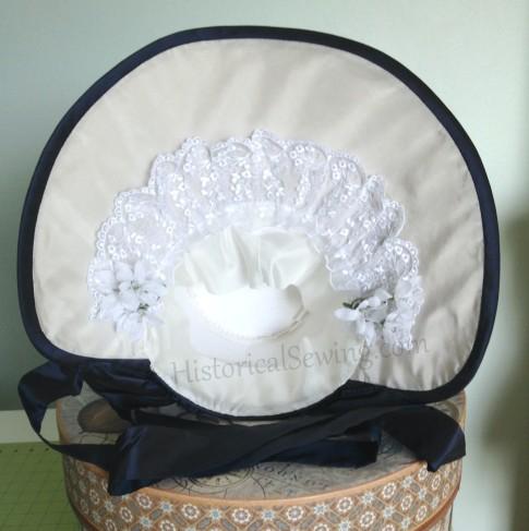 Romantic Era Bonnet inside