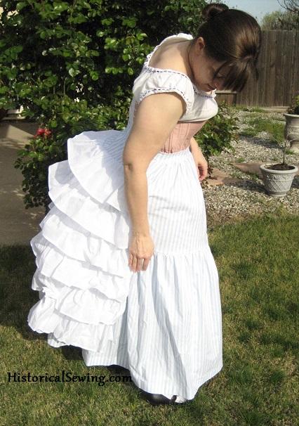 Bustle Petticoat side
