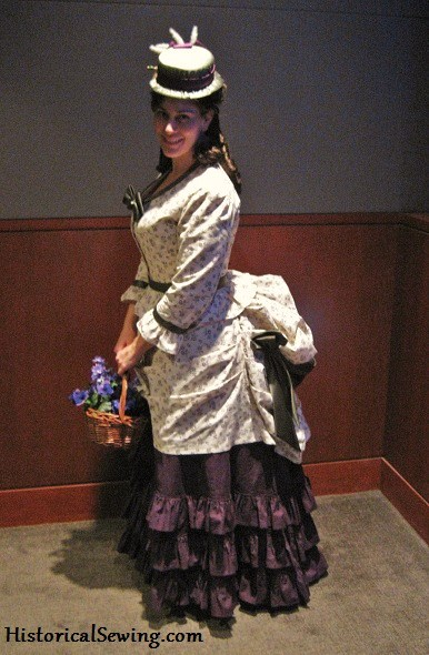 1871 Harvest Grape Dress, side, CGW Cut Fashion Show