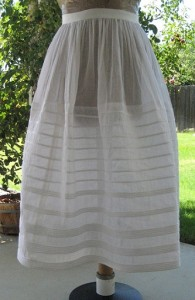 Reproduction Organdy Corded Petticoat