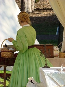 Civil War Green Sheer Dress