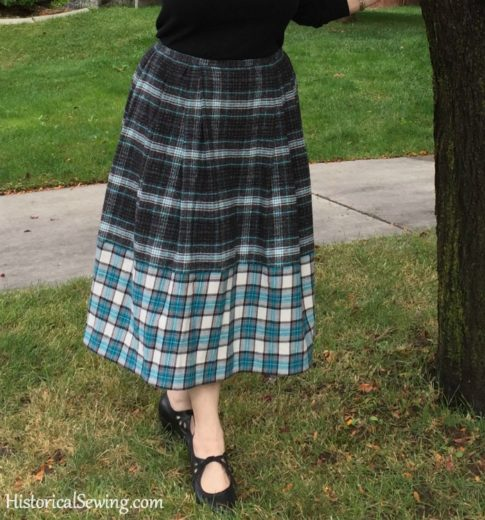 Chore Skirt - front hangs nicely with drapery weight cord
