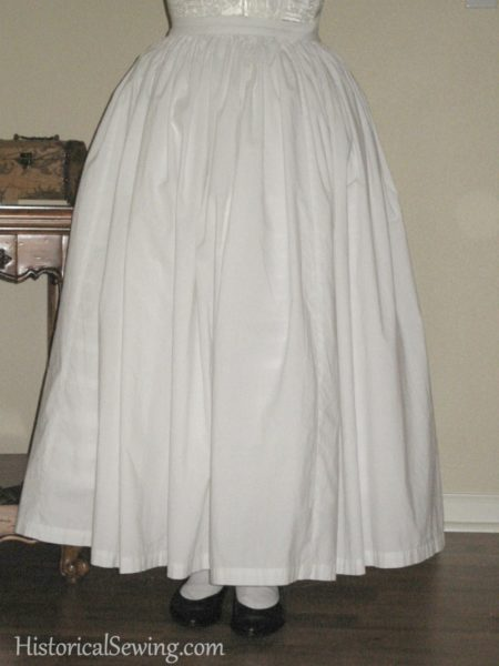 Corded petticoat with plain over petticoat