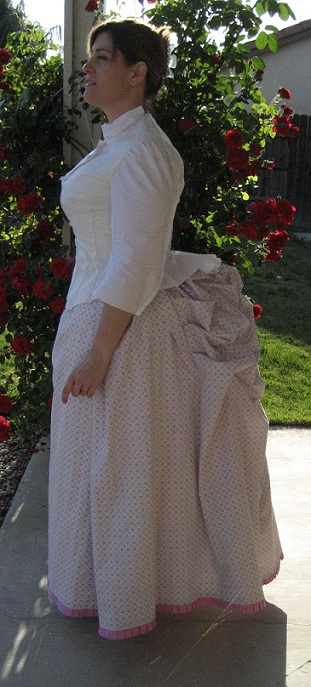 1880s Cotton Skirt and Bodice Muslin Mockup