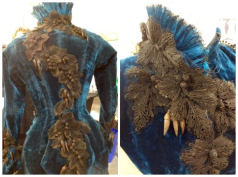 Crimson Peak blue dress motifs