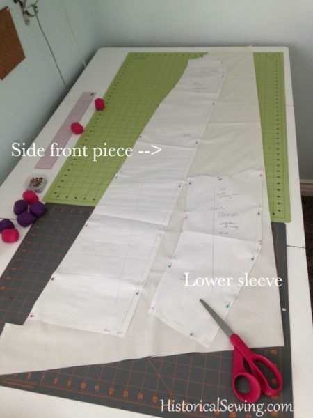 Cutting side front and sleeve