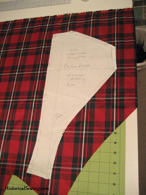Cutting the Plaid Bodice