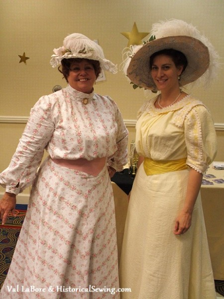 Val LaBore, Tea Mistress and Jennifer in their new Edwardian dresses