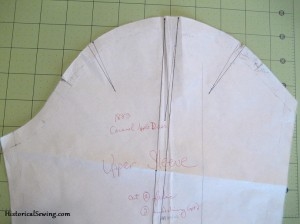 Darts in Sleeve Cap to Remove Ease