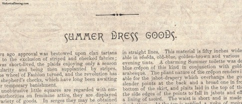Delineator Jun 1894 Summer Dress Goods
