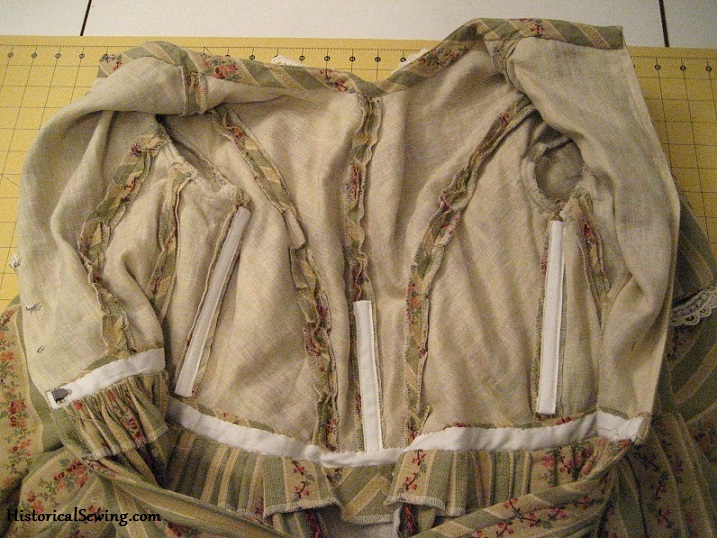 Bodice inside view