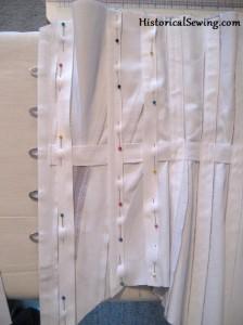 Edwardian corset bone casings