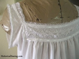 Edwardian Chemise Back Yoke