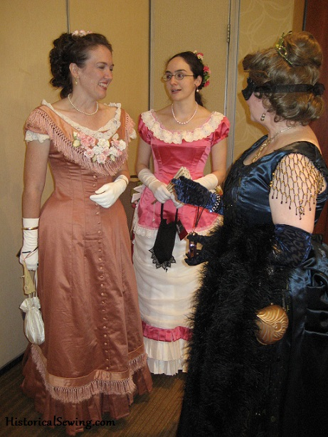Elegant ladies chit-chatting at the Gala